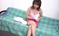 Delicate jap cutie daring to get fuck strips her clothes
