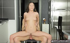 Petite Girlfriend Neona Sucks And Analized On Dining Table