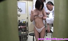 Petite oriental babes naked at doctor
