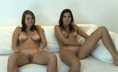 Two teenage babes posing nude for their agent