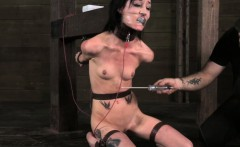 Tied up bdsm sub electrid penalised