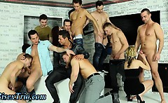 Group bisexual dick sucking