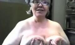 Old granny with big pussy masturbate