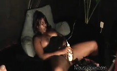 Ebony Whore Masturbating In Public