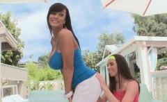 Casey Calvert and her stepmom Lisa Ann ass 2 mouth fucked