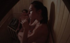 Hidden Cam Three Girls Relax in Sauna