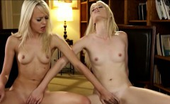 Seductive teens Sierra and Charlotte exploring lesbian love