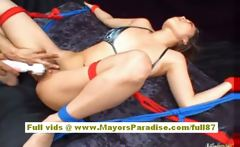 Miho Maeshima lovely asian doll is tied up and getting