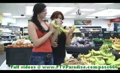 Rita and Madeline gorgeous leasbians public flashing tits