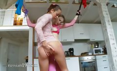 18yo latvian chicks playing with toys