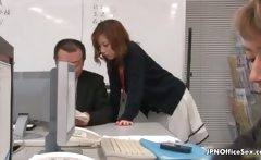 Sexy Japanese employee gets seduced