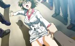 Sexy hentai babe with round boobs