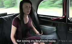 Pierced nipples amateur fucked in taxi