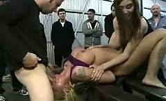 Horny Woman In Extreme BDSM And Perversion